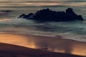 Golden Light over Nordic Beach Scene