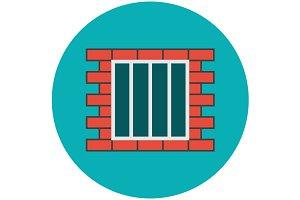 Jail icon flat