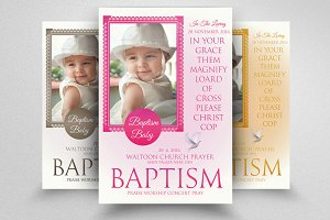 Baby Baptism Flyers Templates