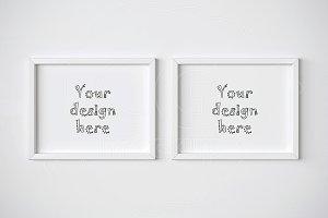 Two horizontal frame mockups