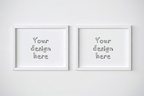 Download Two horizontal frame mockups