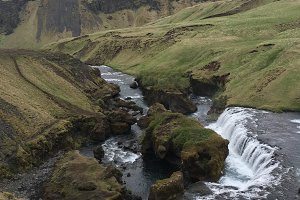 River Above Skogafoss, Iceland