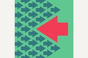 Arrow moves against the mainstream
