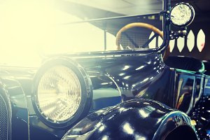 style antique car with toning and light