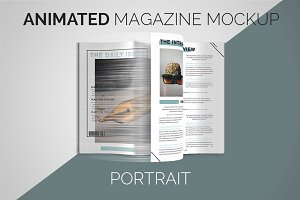 Animated Magazine Mockup | Portrait