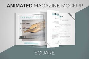 Animated Magazine Mockup | Square