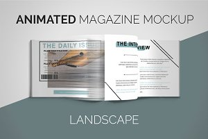 Animated Magazine Mockup | Landscape