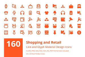 160 Shopping Material Design Icons