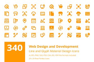 340 Web Design and Development Icons