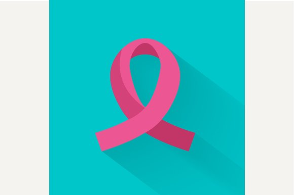 Against cancer pink ribbon