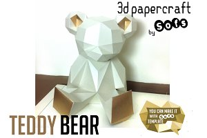 Teddy Bear 3d model template