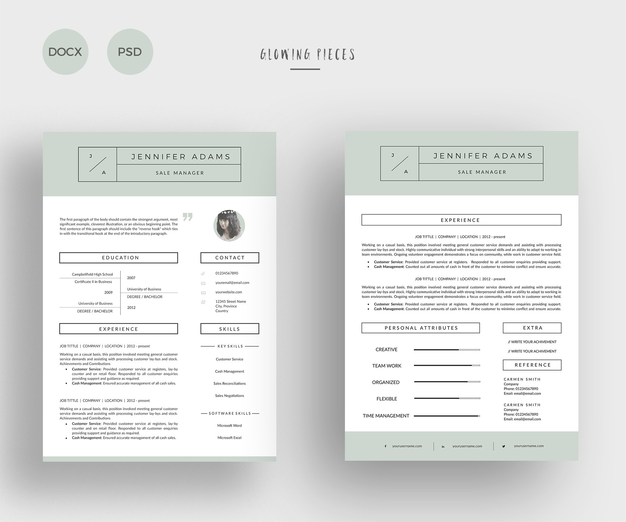 2 Page Resume & Cover Letter