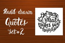 Set of Hand-Drawn Quotes #2