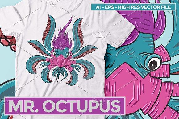 Mr. Octupus - Vector Illustration - Illustrations
