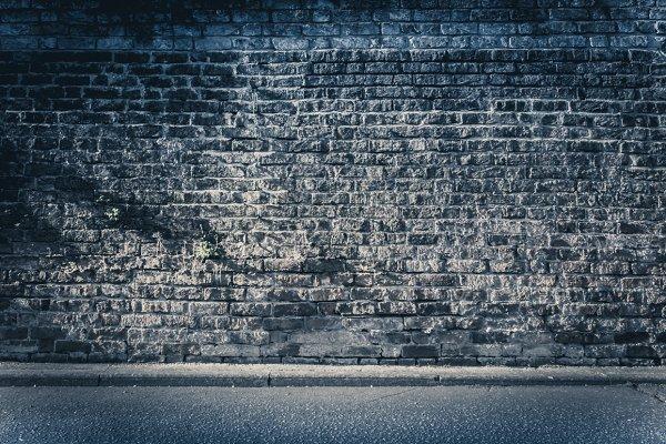 Brickwall background - dark blue