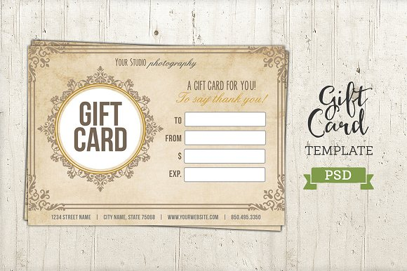 gift card template psd certificate templates creative market