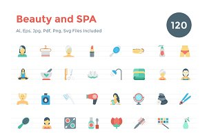 120 Flat Beauty and Spa Icons