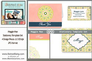 Maggie Mae Stationery Template Set