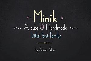Minik Font Family-50%off