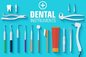 Flat medical dental instruments