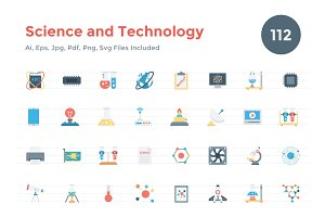 112 Flat Science and Technology Icon