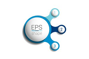 Three steps elements bubble chart