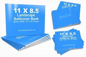 11 x 8.5 Paperback Book Mockup