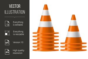 Piles of traffic cones