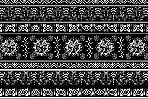 3 Black and white seamless patterns