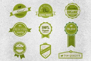Bio Badges Vector Pack