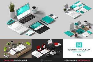 Identity Mockup Isometric view 4K