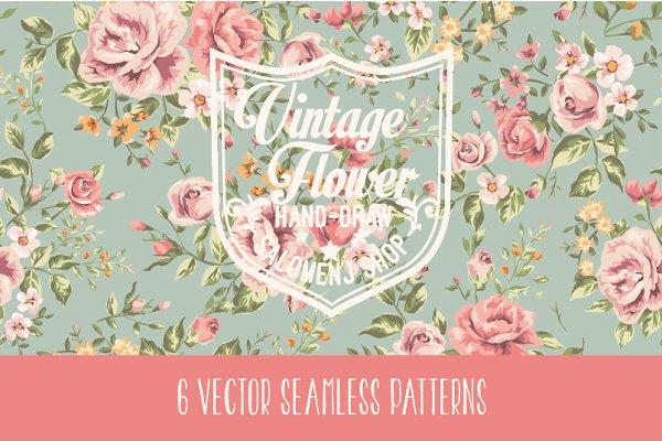 Vintage seamless patterns Vol.1