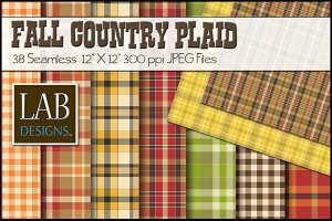 38 Fall Country Plaid Textures