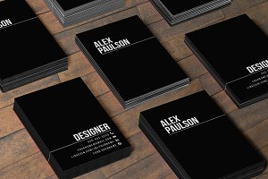 Black Business Card Design 005