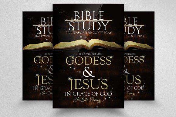 Bible Study Church Flyer ~ Flyer Templates ~ Creative Market