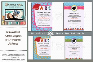Whimsical Pre-K Invitations