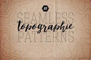 Seamless Topographic Patterns Vol 1