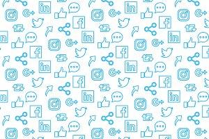 Social Media Icons Pattern