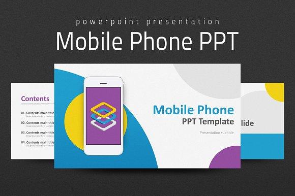 mobile phone ppt presentation templates creative market
