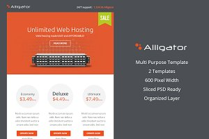 Alligator Business PSD EmailTemplate