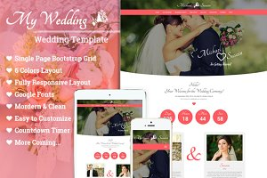 Wedding - One Page Template