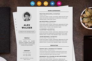 """Resume / CV - """"Walker"""""""