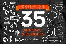 Handsketched Arrows & Bubbles Set