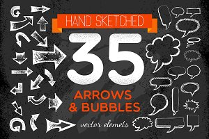 Handsketched Arrows & Bubbles Set