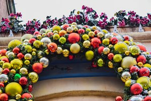 christmas decoration evergreen wreath