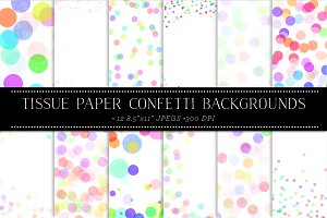 Paper Confetti Backgrounds