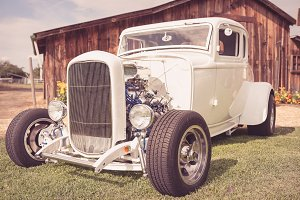 Restored Classic White Hot Rod