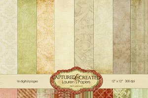 Lauren's Digital Paper Pack