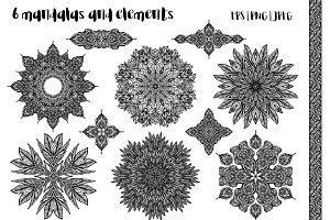 6 mandalas and 5 elements
