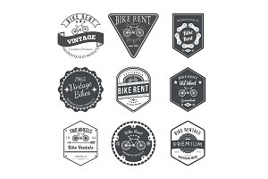 Bike Rent Labels and Badges